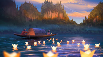 River, Scenery, Floating Candle, Art, 4K, #6.2538