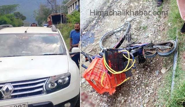 दर्दनाक सड़क हादसा : तेज रफ्तार कार ने रौंदा 13 साल का मासूम, मौके पर मौत
