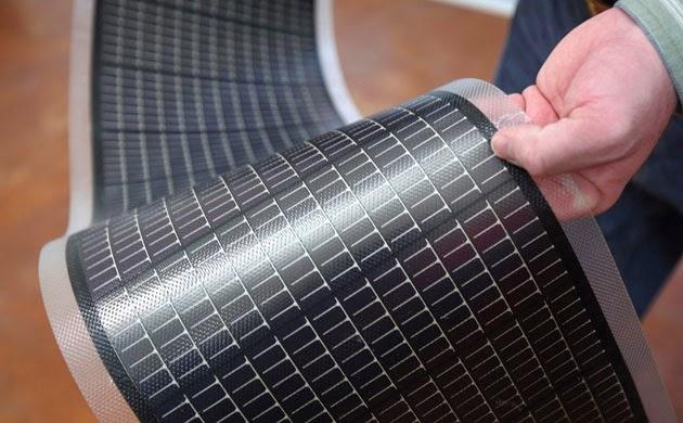 أنواع ألواح الطاقة الشمسية - الألواح الشمسية المرنة