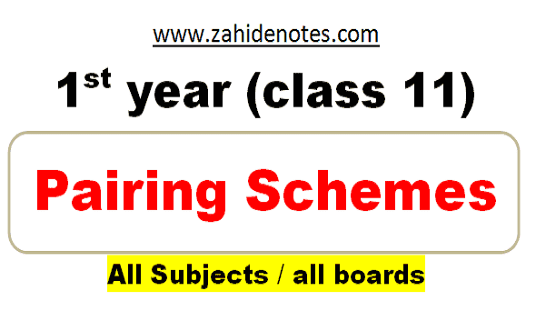 1st year pairing scheme all subjects 2021 pdf download