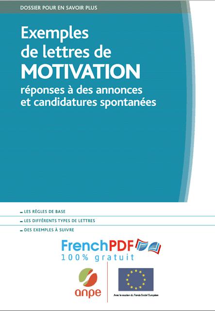 Exemples de lettres de motivation pdf gratuit