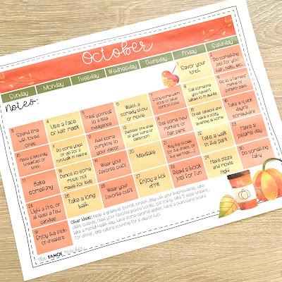 October-teacher-self-care-calendar