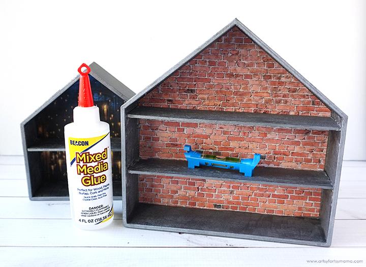 DIY Harry Potter Funko Pop Display Shelves and Glue