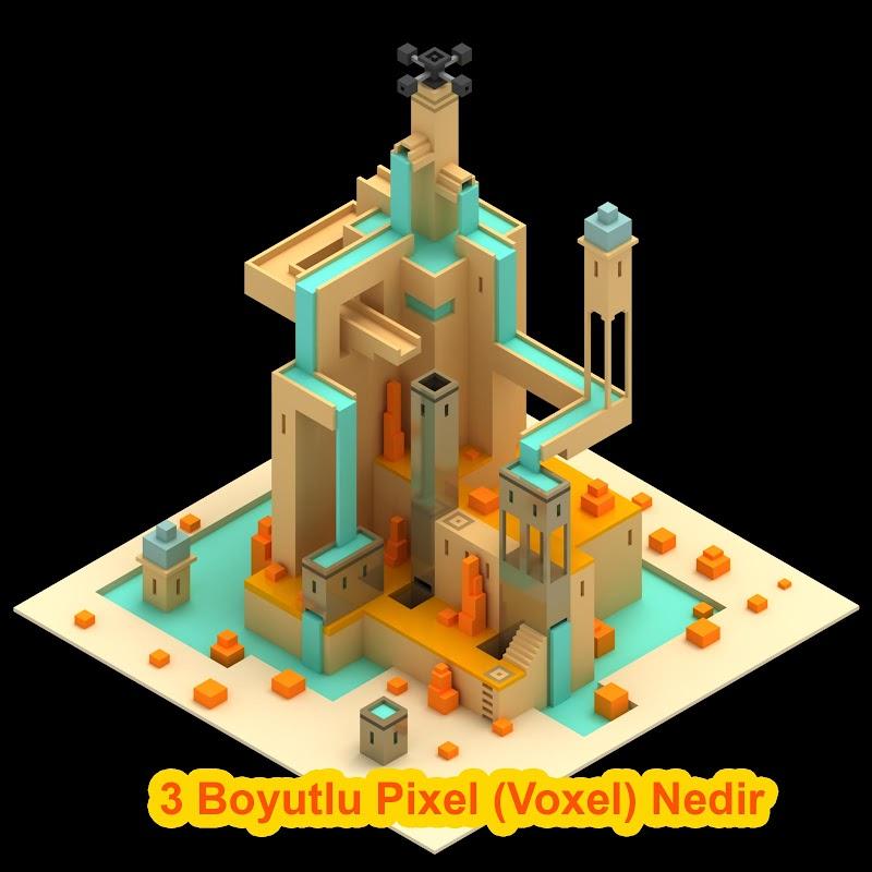 3 Boyutlu Pixel (Voxel) Nedir?