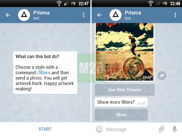 Prisma bot Telegram