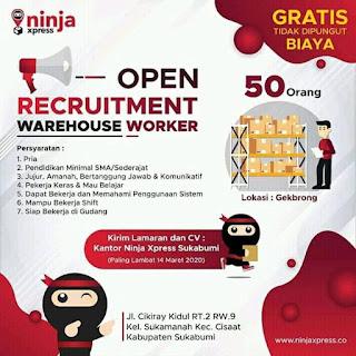 Lowongan Kerja Ninja Express Sukabumi Terbaru 2020