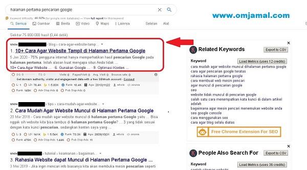 Cara Mudah Agar Website Muncul Dihalaman Pertama Google Omjamal Com