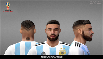 PES 6 Faces Nicolás Otamendi by MattyRockers