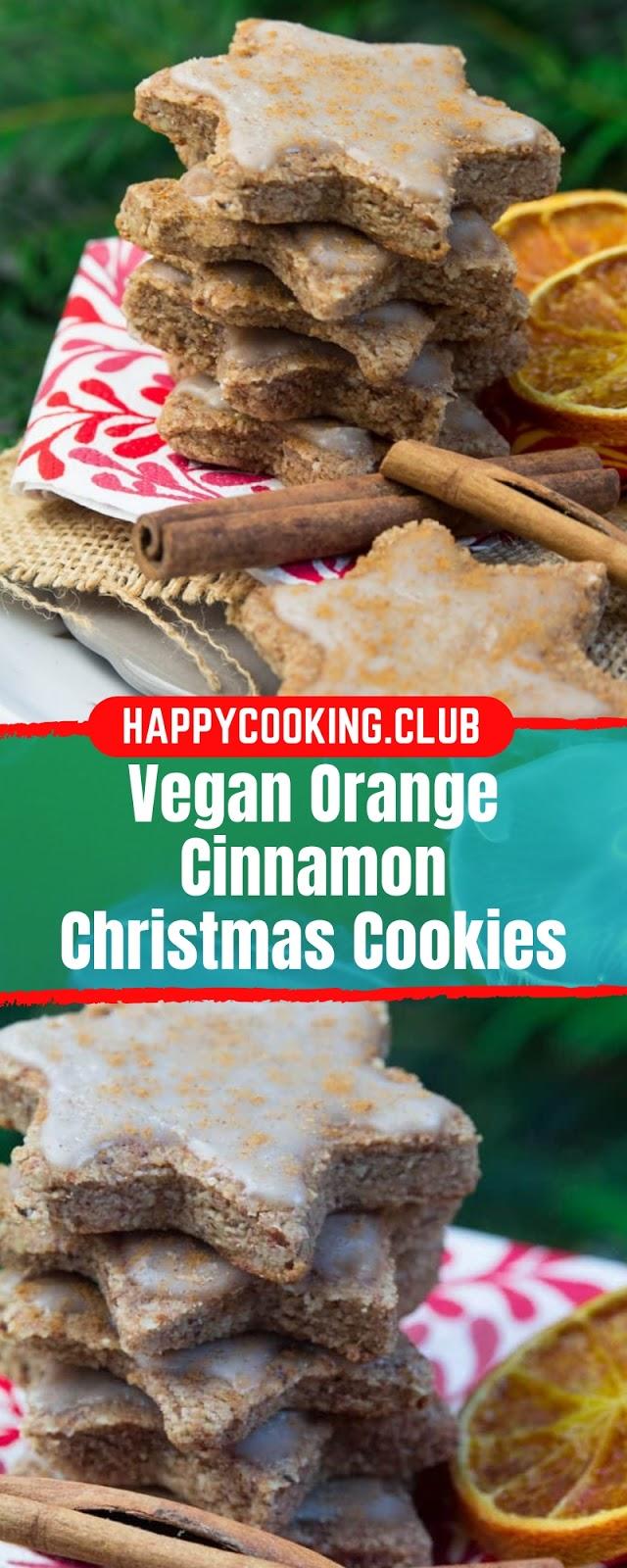 VEGAN ORANGE CINNAMON CHRISTMAS COOKIES #CHRISTMAS #DRINK