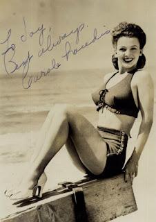 Carole Landis Autograph