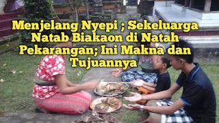 Banyak yang Lupa Menjelang Nyepi, Natab Biakaon: Manka, Cara dan Waktu Mebiakaonan