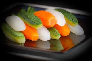Verduras torneadas