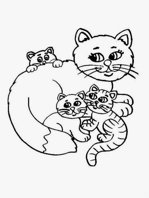cute pictures coloring pages | Navishta Sketch: sweet, cute, angle cats