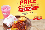 Promo Richeese Factory Special Price Combo Fire Chicken Rp22.727 Periode 20 Januari 2020