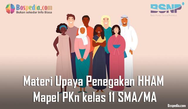 Materi Upaya Penegakan Hak Asasi Manusia (HAM) Mapel PKn kelas 11 SMA/MA