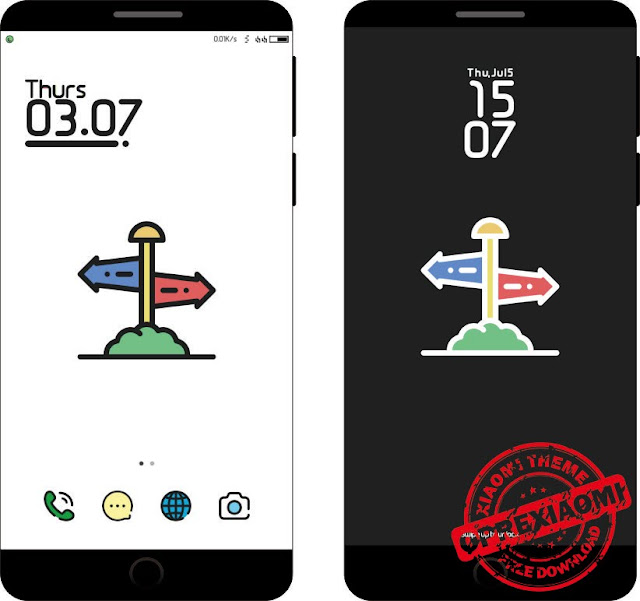 Full Light Theme Outline Mtz Full Tema Xiaomi Paling Simpel Dan Ringan Untuk MIUI V9