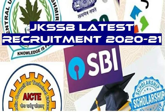 JKSSB latest notifications 2020