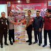 Kapolsek Tinggimoncong Menjadi Perwakilan Penyerahan Time Line Tahapan pengamanan Pilkada kabupaten Gowa