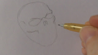 drawing pirate skulls