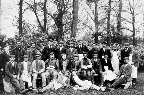 Photograph of Building workers, Mimwood c1910