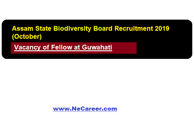 Assam State Biodiversity Board Job Vacancy 2019 (October)