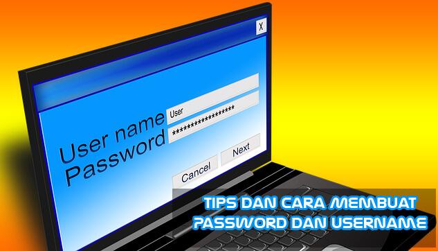 password dan ussername