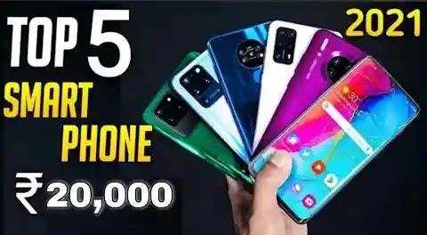 Top 5 Best Smartphones Under ₹20000 in 2021
