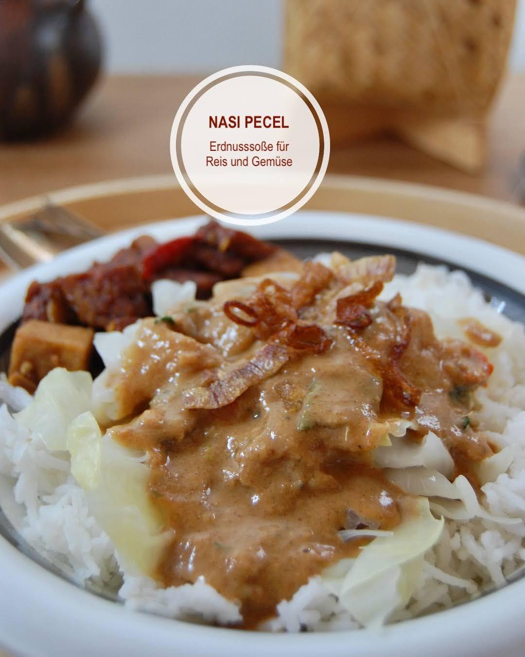 Rezept Nasi Pecel, Erdnusssoße aus Bali für Gemüsereis