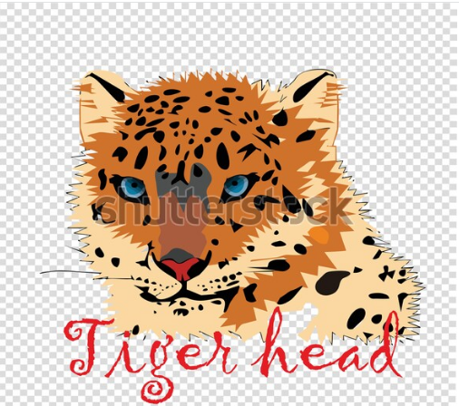 vector art design tiger head