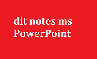 office automation dit notes ms PowerPoint