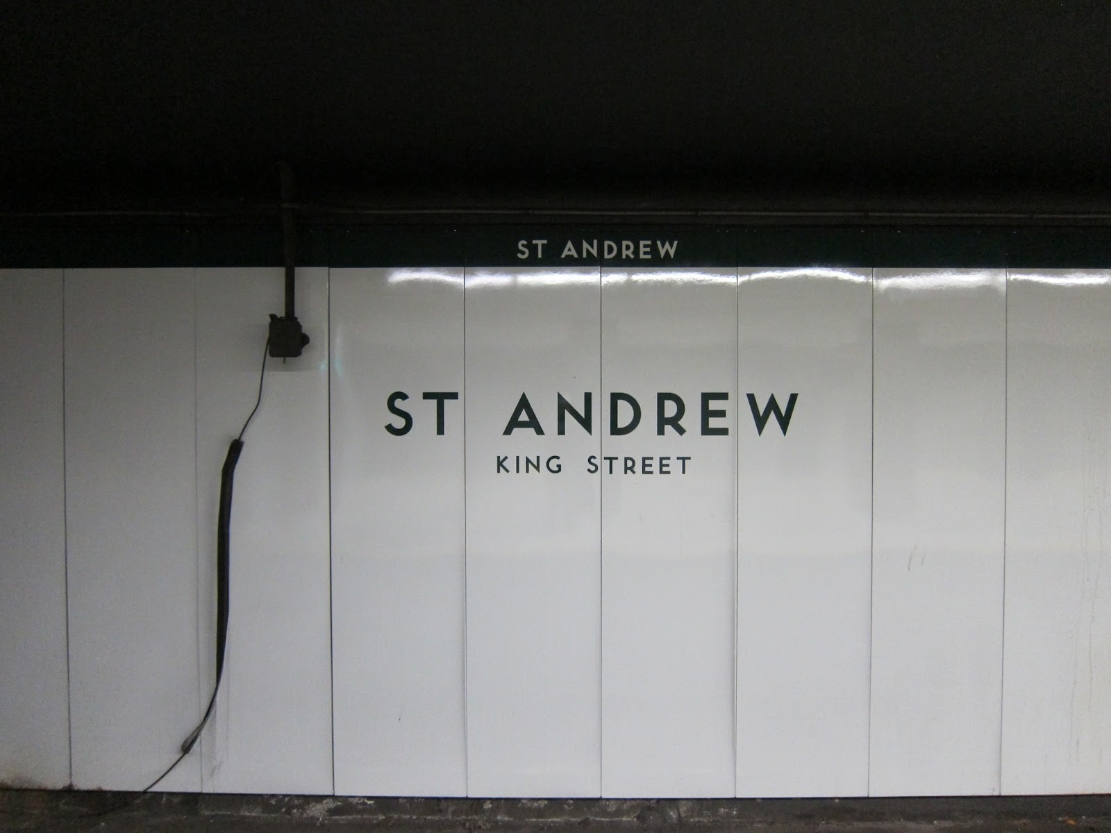 Station identification panelling for St. Andrew