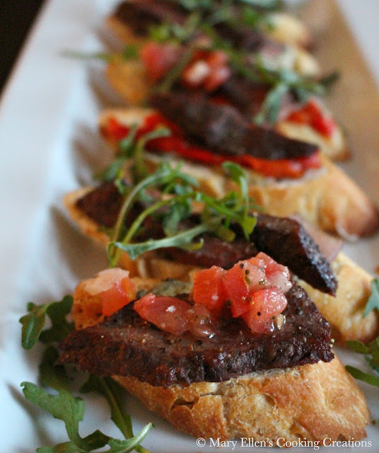 Grilled Flank Steak Crostini