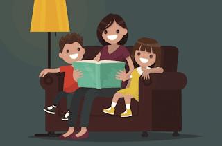 orangtua dan anak membaca buku cerita www.simplenews.me