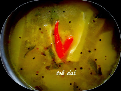 red lentil sour soup tok dal