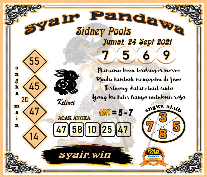 Syair Pandawa Sydney Jumat 24 September 2021