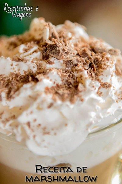 Receita de Marshmallow para cobertura de bolos e cupcakes