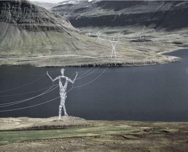 أغرب الأشياء في العالم : اغرب اعمدة كهرباء قد تشاهدها