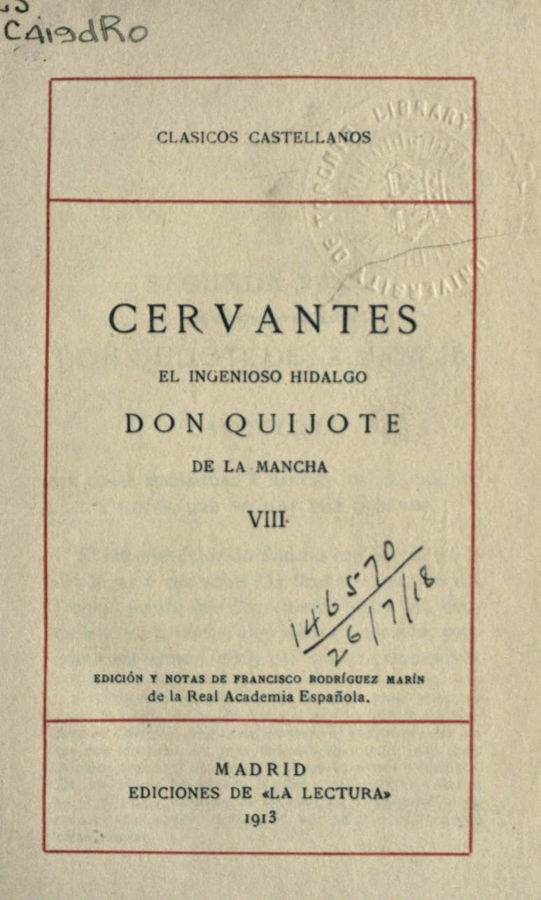 Don Quijote tomo VIII