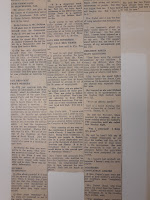Part of a newspaper clipping with a transcript of Foster's hearing