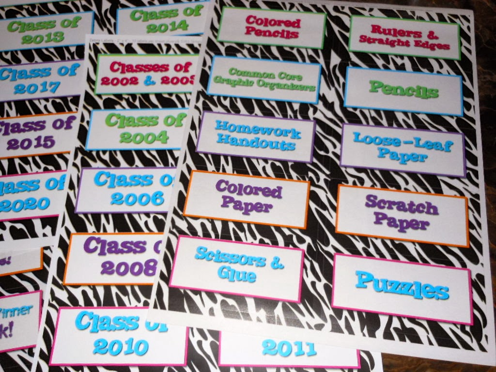 Classroom Labels: First Step for Classroom Organization