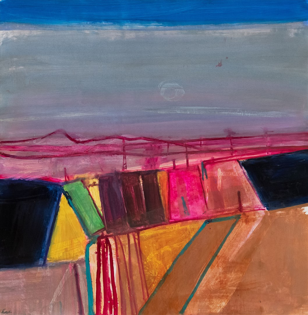 Barbara Rae RA - Kilpallet Rig (mixed media on paper) - Royal Academy Summer Exhibition 2021 - London lifestyle & culture blog