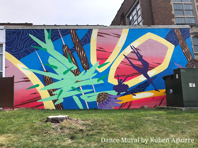Love the motion in the Dance Mural by Ruben Aguirre.