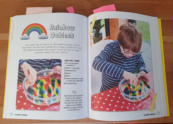 Instructions on how to make Rainbow Oobleck