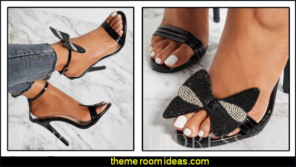 Buckle Stiletto Heel Open Toe Ankle Strap Rhinestone Sandals womens shoes bling shoes sandals