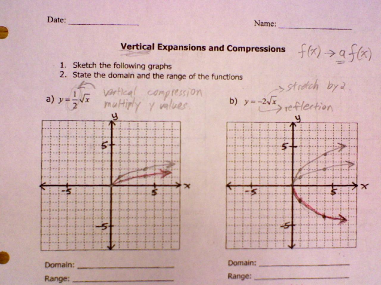 Grade 11 Functions September