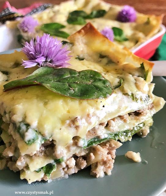 Lasagne z serem cheddar