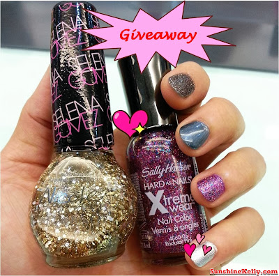 Sally Hansen, Nicole by OPI, Nail Workshop, Giveaway, nail care, nail colors, nair art, nail treatment, sally hansen & nicole by OPI nail color giveaway