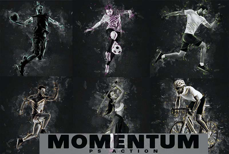 Momentum Photoshop Action