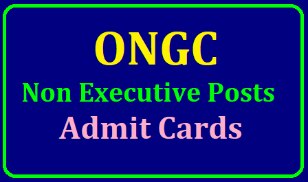 ONGC Admit Card 2019 for Non Executive Gujarat and Rajasthan State Released @ongcindia.com/2019/06/ongc-non-executive-posts-recruitment-admit-cards-exam-dates-download.html