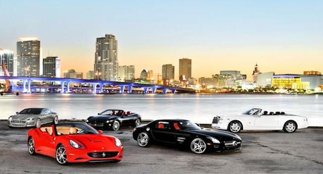 Como alugar um carro de luxo em Miami e Orlando